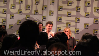 Steven Moffat and Sue Vertue at the SherlockeDCC party