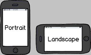 perbedaan landscape dan portrait gambar foto