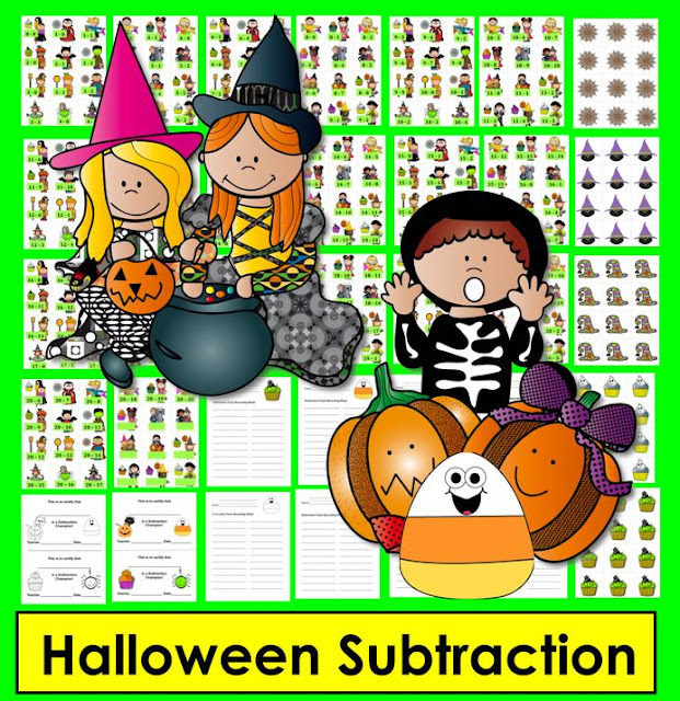 https://www.teacherspayteachers.com/Product/Halloween-Math-Activities-Subtraction-Facts-to-20-Differentiate-2171552