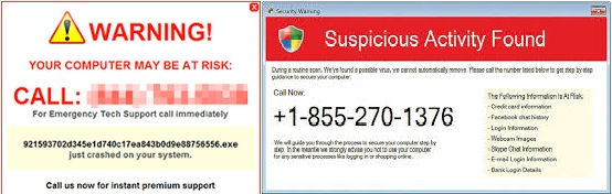 Technical Support SCAM - Security Threat To Computer Systems