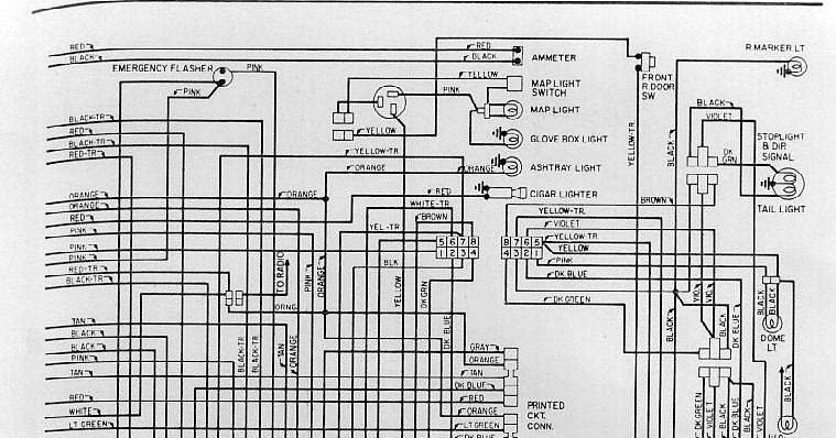 ammeter gauge wiring diagram human skull front view interior electrical diagrams of 1971 dodge dart | all about
