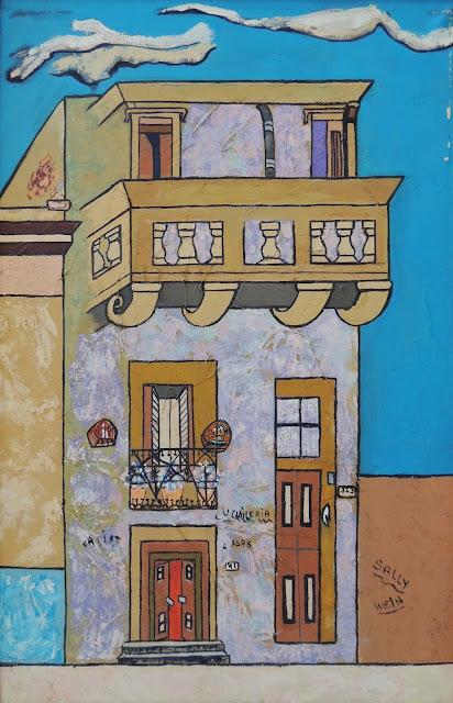 Sally Weintraub pintura naíf San Telmo surrealismo