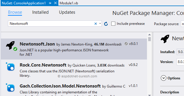 NewtonSoft JSON Serialize And Deserialize in C#, VB NET - ASP NET,C#