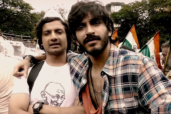 Priyanshu Painyuli and Harshvardan Kapoor in a still from Bhavesh Joshi