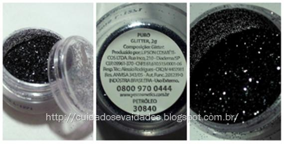 Yes Cosmetics - Olho preto com Glitter Solto