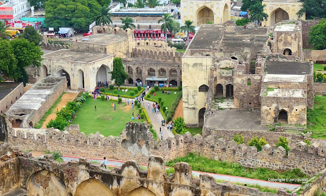 View from Top, Golkonda Fort, Hyderabad