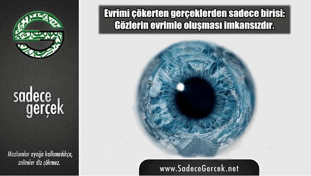 Evrimi çökerten gerçeklerden sadece birisi: Gözlerin evrimle oluşması imkansızdır.