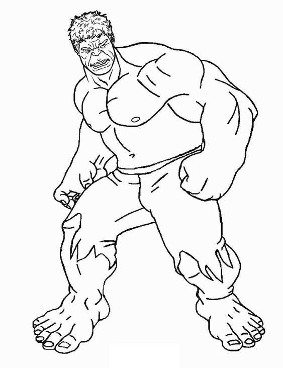 Tranh tô màu người khổng lồ xanh biệt đội siêu anh hùng