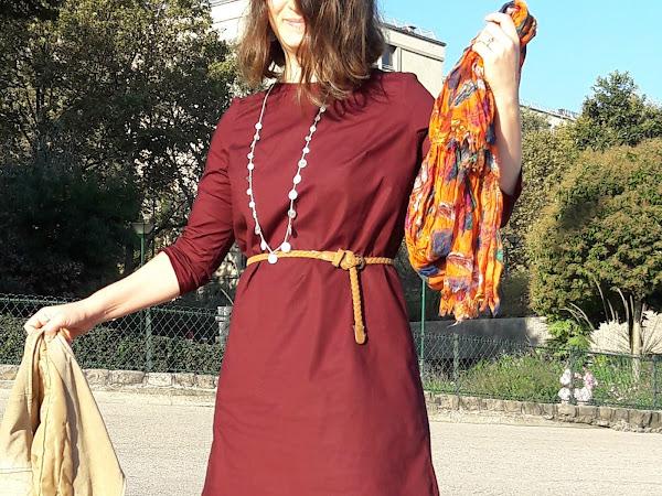 Parisian Burgundy Ultimate Shift Dress (keskidi?!)