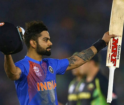 Viarat Kohli moves up to 3rd spot in ICC rankings