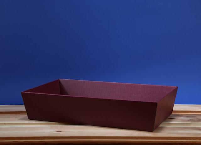Kosz prezentowy prostokątny 25 x 46 bordowy