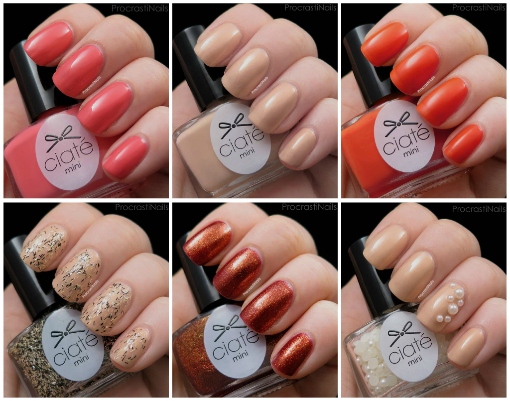 Ciate Mini Mani Manor Advent Calendar Swatches