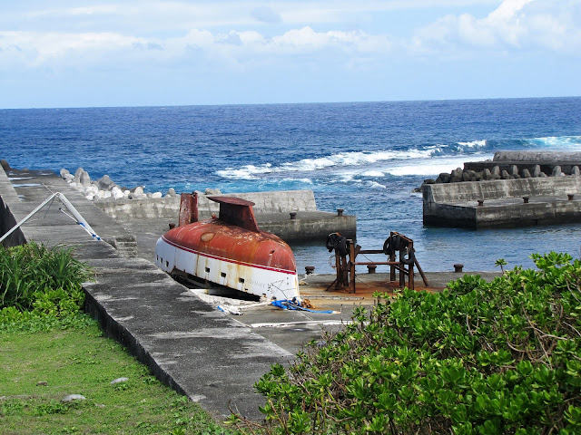 boat harbor lyudao lighthouse green island taiwan