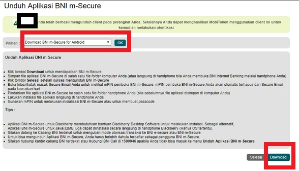 Cara Mendapatkan BNI m-Secure
