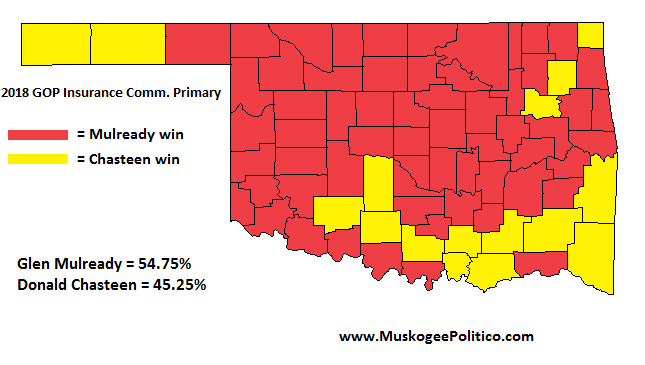 MuskogeePolitico/Election Results Map: GOP Insurance Comm