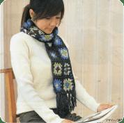 Bufanda con motivos a Crochet