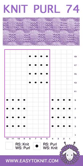 #LearnToKnit Basketweave #KnitPurl #EasyToKnit