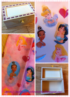 How to do decoupage on Jewelry Box with princess design