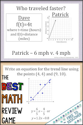 The best math review game for the end of a unit or the end of the year