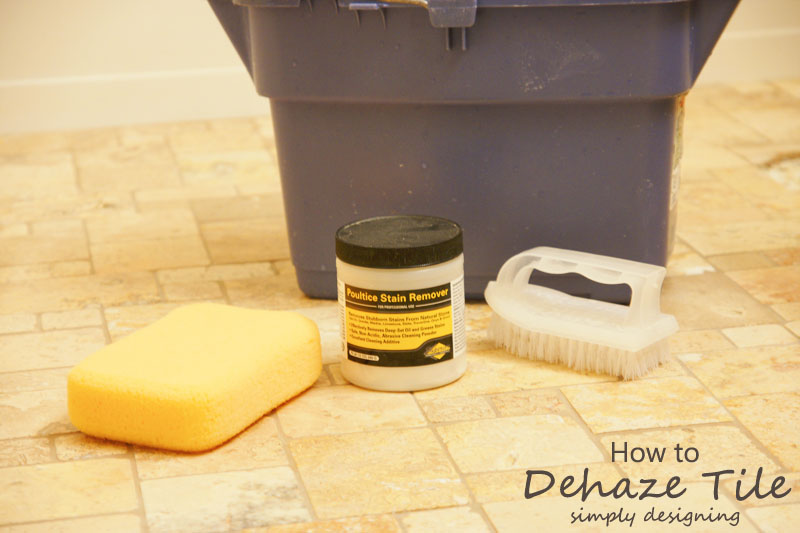 How to Dehaze Tile | a complete tutorial for how to demo, prep, install concrete backer board and install tile | #diy #bathroom #tile #thetileshop @thetileshop