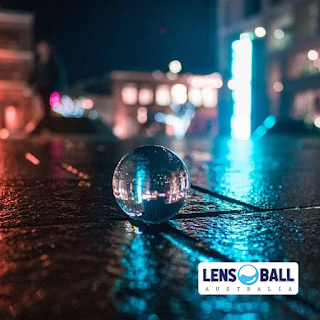 Lensball Night Wet Street