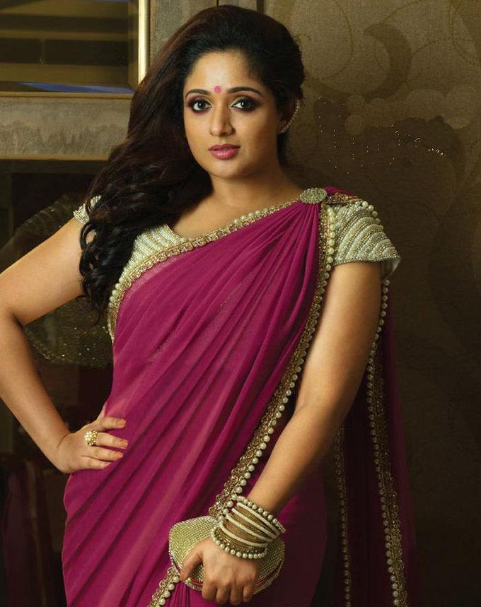 Actress Kavya Madhavan In Saree Untitled Gallery