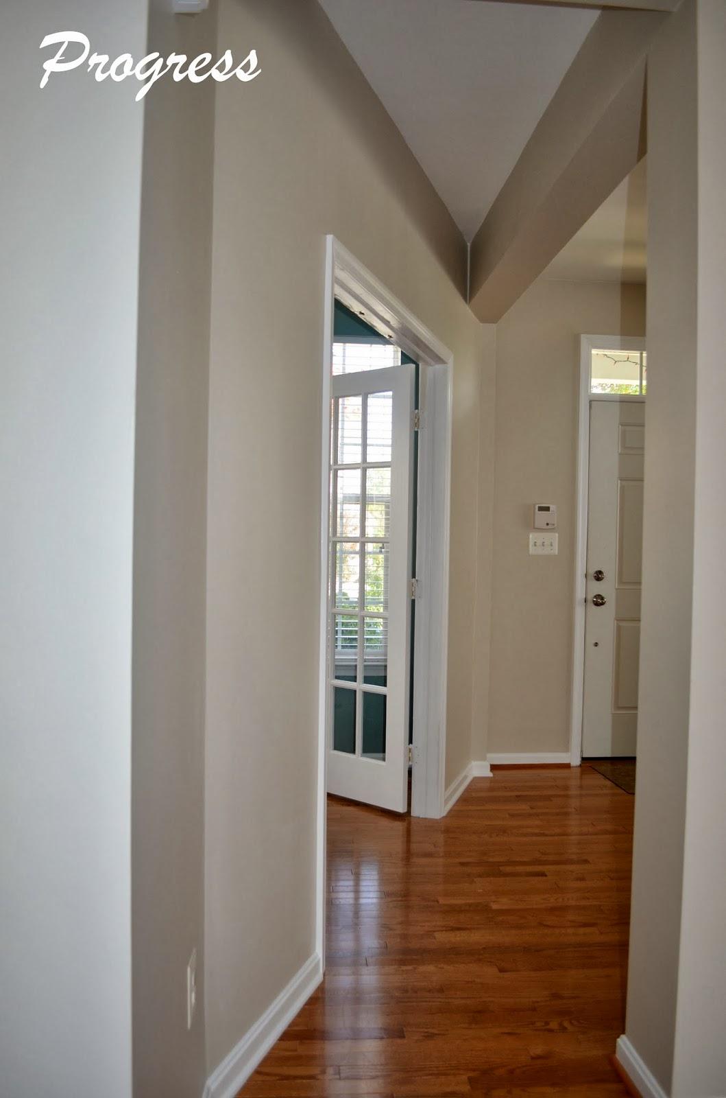White Walls Dark Trim Light Floors