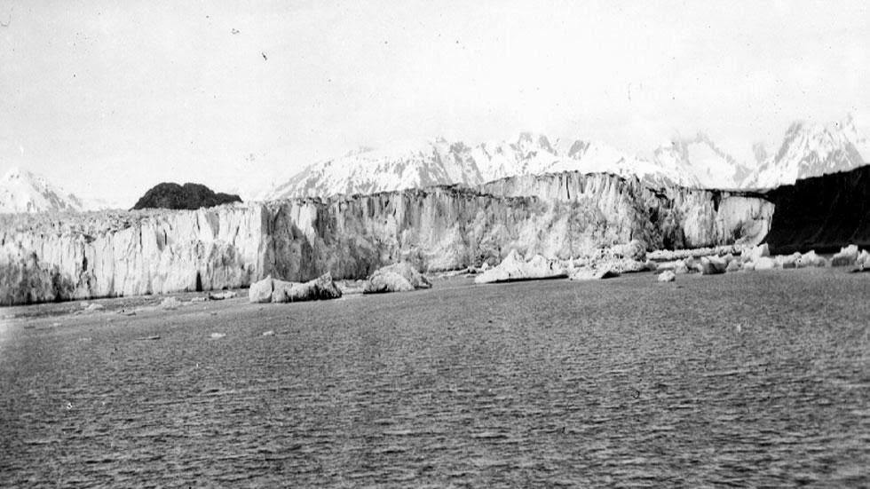 Muir and Adams Glaciers (1899) - Photos of Alaska Then And Now. This is A Get Ready to Be Shocked When You See What it Looks Like Now.