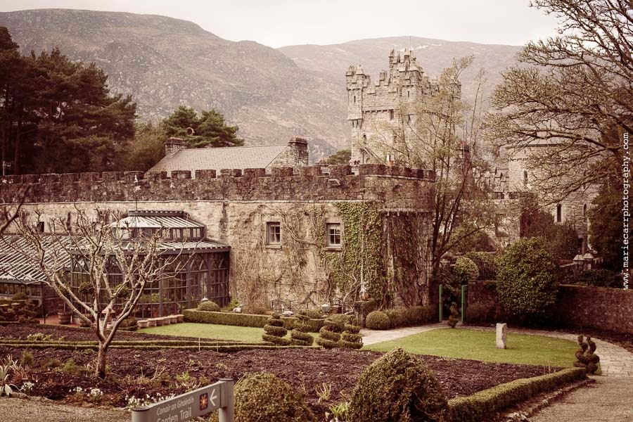 The back of Glenveagh Castle, Co. Donegal, Ireland