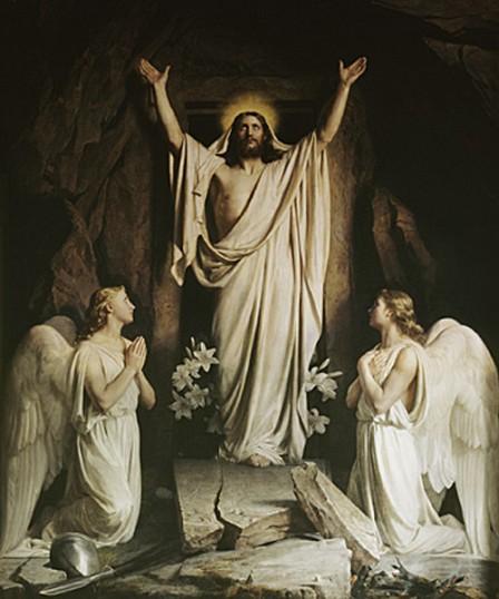 Pintura de Carl Heinrich Bloch - A Ressurreição de Cristo