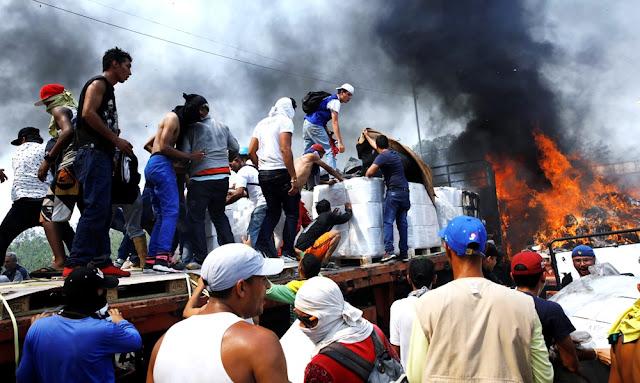 Bloqueo de la ayuda humanitaria causa muertos y heridos en Venezuela