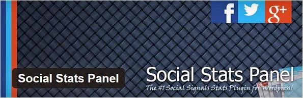 Social Stats Panel plugin for WordPress