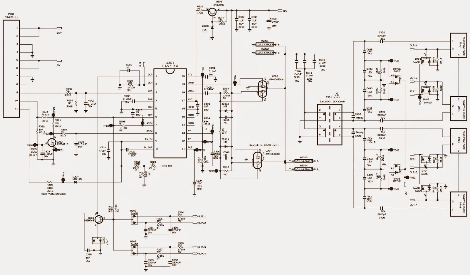 LG SMPS (Power Supply) SCHEMATICS - LM57G – LM91G
