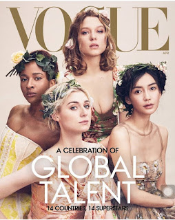 Vogue magazine cover page