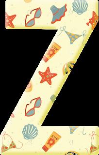 Abecedario de Verano. Summer Alphabet.