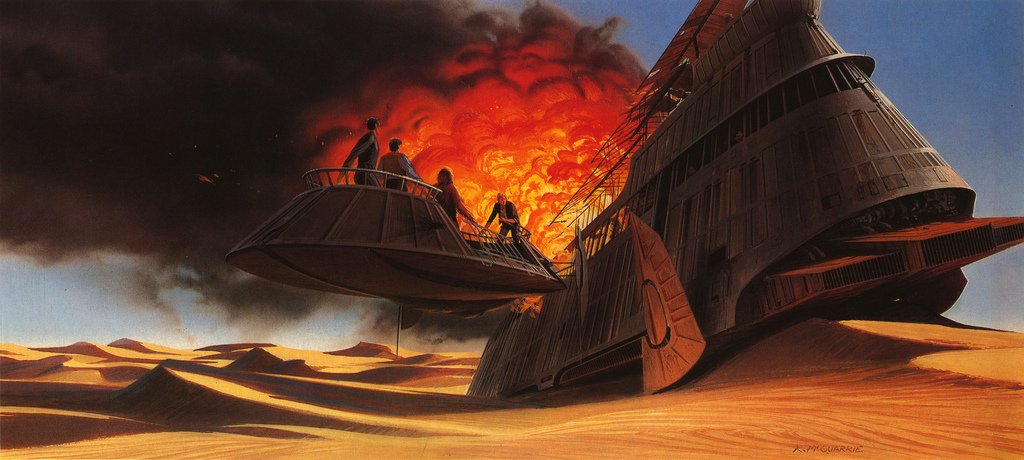 20 STAR WARS RETURN OF THE JEDI Concept Art Illustrations ...