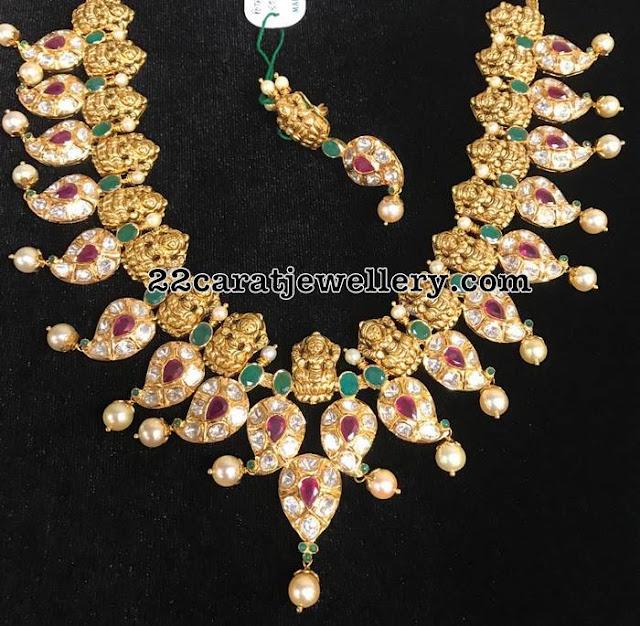Lakshmi Mango Necklace Pachi Design