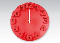 Zegar ścienny czerwony z Biedronki