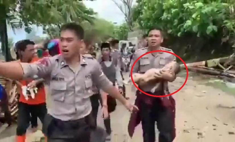 bayi ditemukan selamat
