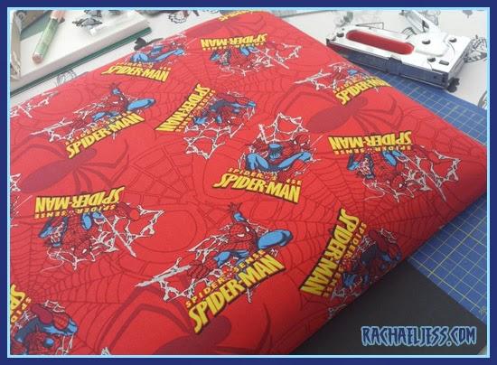 Spider-man reupholstered seat
