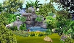 TREE PSD 04.psd (Thác nước, non bộ, cau bụi thảm cỏ, cây xanh)