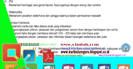 Download Rpp Tematik Jenjang Sekolah Dasar Ktsp Gratis 2016 File Terbaru