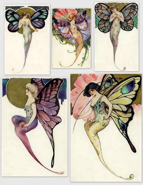 Image femme papillon pour tout décor