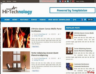Hi-Technology Blogger Template