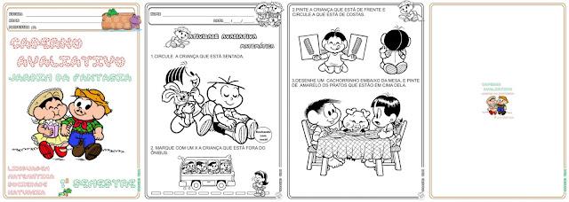 Caderno Avaliativo Jardim da Fantasia  Faixa Etária 3  e 4 anos