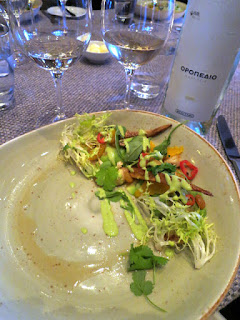 Heirloom Carrot Salad paired with Moschofilero