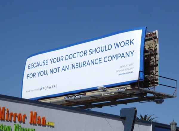 doctor insurance Forward billboard