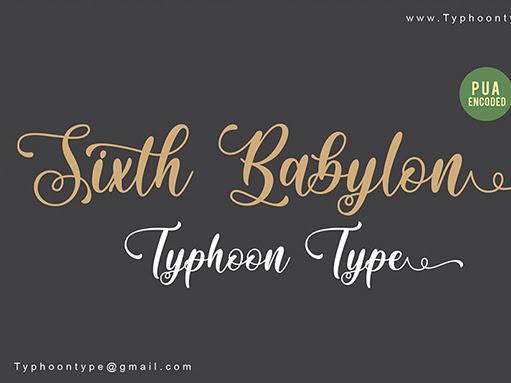Sixth Babylon Bold Script Font Free Download