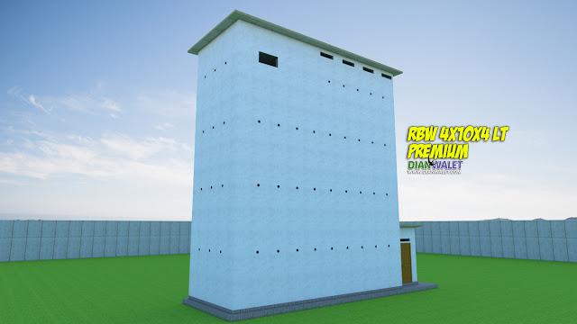 Desain Sarang Walet 4X10 4 Lantai Tanpa Rumah Monyet