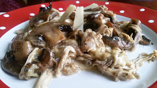 Пилешко с гъби и моцарела